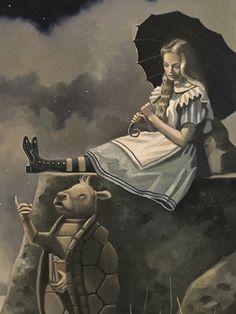 Alice in Wonderland illustration by David Delamare