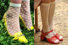 tendance chaussures printemps été 2014 chaussettes