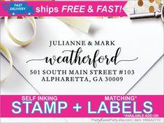 Return Address Stamp Self Ink Custom Address by PrettySweetParty