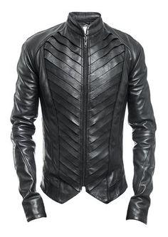Delusion | Splice Leather Jacket Black