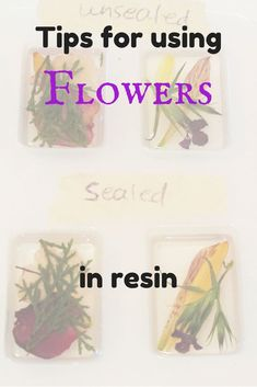 Wow.  Lots of great information for using flowers in resin.
