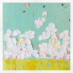 """I never get tired of the blue sky."" ~ Vincent van Gogh #whptexture #nicolettevalikoskiart"