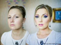 Incredible makeup transformations; I can't believe what a difference makeup can make!