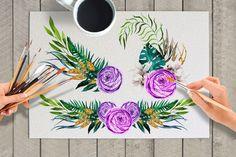 Spring Flowers Watercolor Set by Katsia Jazwinska on @creativemarket