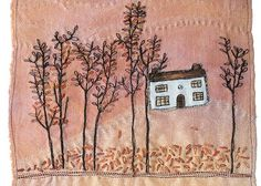 """CAROLYN SAXBY MIXED MEDIA TEXTILE ART: work from our exhibition """"inspired to stitch"""""""