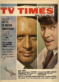 TV Times, September 1965 (Patrick McGoohan as John Drake in Danger Man; Jimmy Tarbuck in Sunday Night at the London Palladium)