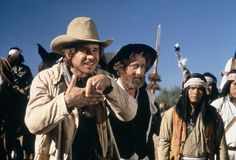 Harrison Ford and Gene Wilder in The Frisco Kid 1979.