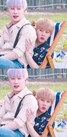 Wonho and Jooheon