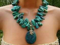 Huge Turquoise Statement Necklace