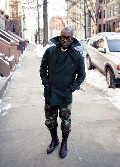 wide lapel Mens Combat Boots Fashion, Mens High Boots, Combat Boots Style, Military Fashion, Fashion Boots, Fashion Fashion, Street Fashion, Military Style, High Fashion