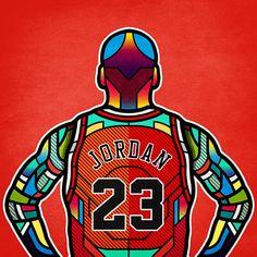 NBA-Legends-Digital-Stained-Glass-Art-Jordan