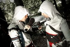 Me and applecard as Altair and Connor from Assassin's Creed - It seems that they don't like each other :P Cosplay, Assassin's Creed, Addiction