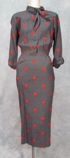 Vintage 1950s Wiggle VEGAS Retro Early 1960s Womens by klassicline, $79.99
