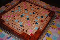 Scrabble Game By MarisParis on CakeCentral.com