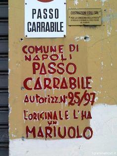 COMUNE DI NAPOLI PASSO CARRABILE