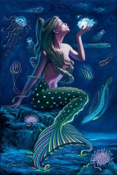 Will Cormier fantasy art/ Mermaids of Atlantis Mermaid Poster, Mermaid Artwork, Mermaid Pictures, Mermaid Drawings, Mermaid Canvas, Mermaid Images, Mermaid Paintings, Siren Mermaid, Mermaid Fairy