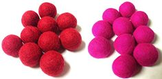 Yarn Place Felt Wool Balls - 20 Pure Wool Beads 30mm Pack - Red Magenta Combination Yarn Place http://www.amazon.com/dp/B00NDZ12M4/ref=cm_sw_r_pi_dp_t0DMvb0QR2YKZ