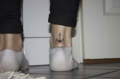 The tattoo and placement i have been looking for all in one pic wow :) Anchor tattoo on the back of ankle.