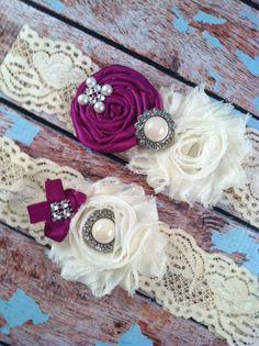 wedding garter / ULTRA violet  / bridal  garter/  lace garter / toss garter /  garter / vintage inspired lace garter/ U PICK Color on Etsy, $24.99