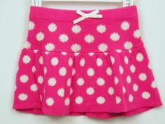 Sweater Skirt Girls Sz 3T or 4T Pink White Polka Dot Sonoma NWT