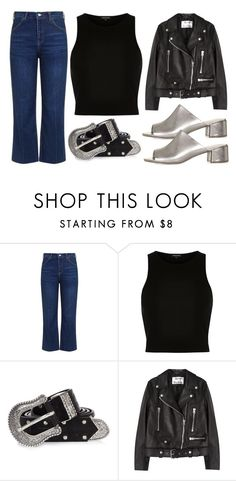 """Metallic Mules"" by mollie-simmonds ❤ liked on Polyvore featuring Topshop, River Island and Acne Studios"