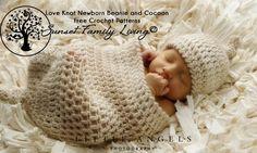 Láska Knot Beanie a Cocoon |  Zdarma háčkování vzory