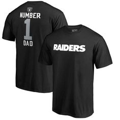 Oakland Raiders NFL Pro Line by Fanatics Branded Big & Tall Number 1 Dad T-Shirt - Black