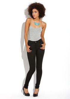 Mavi Black Serena Low Rise Super Skinny Jeans