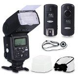Neewer® Professional Speedlite E-TTL *High-Speed Sync* Flash Kit for CANON Rebel T4i T3i T3 XS T2i T1i Xsi Xti, EOS 650D 600D 1100D 1000D 550D 500D 450D 400D 5D Mark III 5D Mark II 7D 60D 50D 40D 30D DSLR Cameras, Includes: Neewer Pro E-TTL Auto-Focus Flash + Wireless Trigger + 2 Cables(C1-Cord + C3-Cord Cables) + Hard & Soft Flash Diffuser + Lens Cap Holder