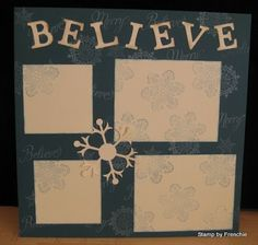Scrapbook night Believe!!!