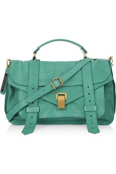 proenza schouler PS 1 Medium leather satchel. love this bright bag