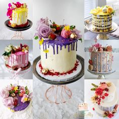 Drip cakes by: The Sweet Alley
