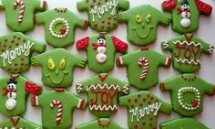 Tacky Christmas Sweater Cookies