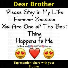 Tag-mention-share with your Brother and Sister 💙💚💛👍 Brother Sister Relationship Quotes, Bro And Sis Quotes, Brother Sister Love Quotes, Brother Birthday Quotes, Sister Quotes Funny, Brother And Sister Love, Cousin, Message For My Love, Good Heart Quotes