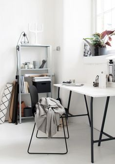Our monochrome workspace - Ollie and Seb's haus and Hege in France