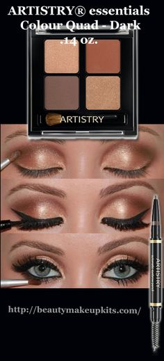 ARTISTRY® essentials Colour Quad - Dark .14 oz. #beautiful, #tutorial, #eyes