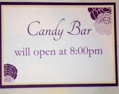 PRINTABLE Wedding sign/Candy Bar/Buffet Open Sign