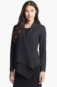 Eileen Fisher Lightweight Boiled Wool Jacket (Regular