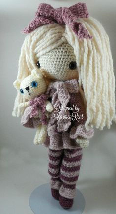 January February March and their Pets Amigurumi Doll