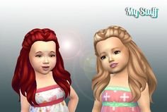 Mystufforigin: Creative Braids for Toddlers  - Sims 4 Hairs - http://sims4hairs.com/mystufforigin-creative-braids-for-toddlers/