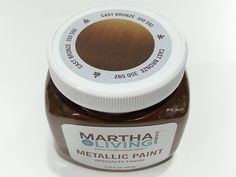 Martha Stewart Living Metallic Paint   Cast Bronze 350 592   Specialty  Finish For Covering White
