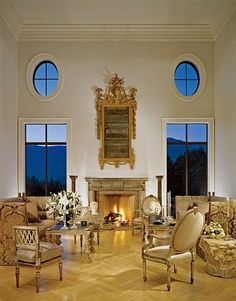 Traditional Living Room by Craig Wright and The Warner Group in Montecito, California Craig Wright, European Decor, Residential Interior Design, Living Room Modern, Living Rooms, Window Design, Architectural Digest, Home Decor Inspiration, Decor Ideas