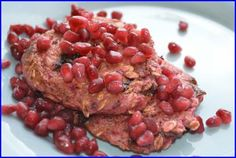 Recipe: VALENTINE'S DAY HEART HEALTHY BREAKFAST OF LOVE: OATMEAL AND POMEGRANATE PANCAKES