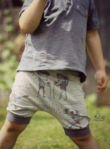 DIY Kinderkleidung nähen für den Sommer (für Jungs und Mädchen) kurze Shorts / Pumphose #eBook incl. Schnittmuster und Anleitung