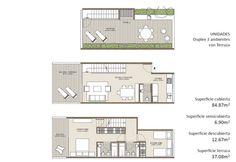 Triplex / Desarrollo de departamento en 3 pisos, se ingresa por el nivel intermedio (semipublico), abajo los dormitorios privado y arriba la terraza / naahuelhuapi4265colghan.jpg (1024×705)