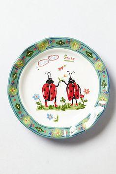 Francophile Dinner Plate // anthropologie