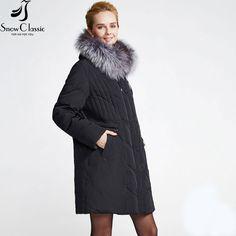 Snowclassic Women's Winter Jacket 2016 Female Plus Size 6xl Jacket Real Fox Fur Collar duck Down Jacket 12079