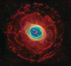 M57, The Ring Nebula - Composite Image from Hubble Space Telescope, Large Binocular Telescope and Meter Subaru Telescope. - Image Assembly and Processing : Robert Gendler
