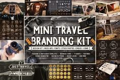 Ad: Mini Travel Brand Kit -  logo design creators to mock-ups, business cards, Instagram and Facebook templates, custom icons, stock photos, textures, patterns, emojis, t-shirt designs, merchandise graphics, and way more, this is the pack to buy if you're looking to launch a new brand or refresh an existing one. #Free #creativemarket