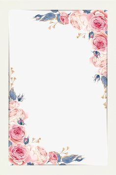 The Scrapbook Collection — Beautiful little fresh border vector material Free. Flower Background Wallpaper, Flower Backgrounds, Wedding Cards, Wedding Invitations, Wedding Invitation Background, Floral Invitation, Watercolor Border, Watercolor Ideas, Borders And Frames